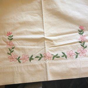 Two vintage pillowcases